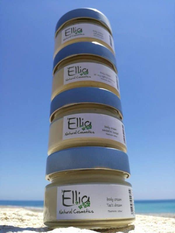 Body Cream  with olive oil - sensual nights 2 - Ellia Natural Cosmetics - Cyprus Europe