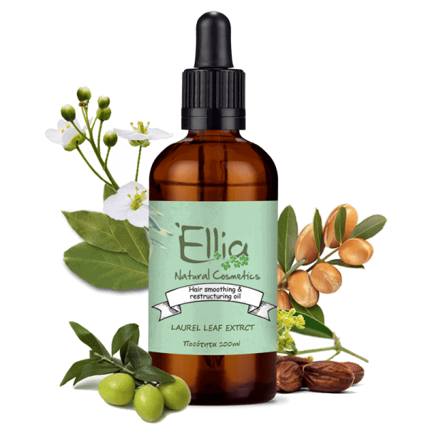 Hair  smoothing & restructuring oil 100ml 1 - Ellia Natural Cosmetics - Cyprus Europe